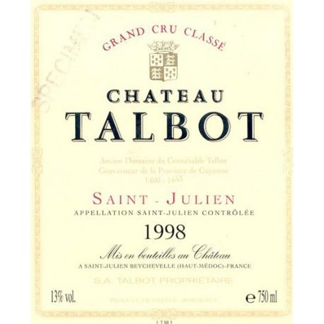 Ch?teau Talbot 2009, Saint-Julien 4? GCC - Parker 92-95 - Imp?riale 6 Liters